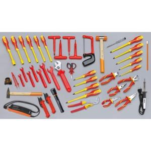 Assortimento di 46 utensili per elettrotecnica