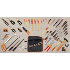 Assortimento di 70 utensili per elettrotecnica