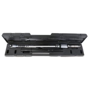 Chiavi dinamometriche a scatto con cricchetto semplice per serraggi destrorsi e sinistrorsi precisione di serraggio ± 4%  in cassetta