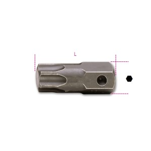 Inserti maschio per viti  con impronta Torx®  attacco 22 mm  fosfatati