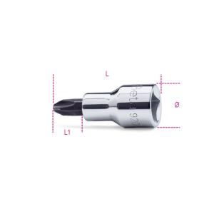 """Chiavi a bussola a giravite per viti con impronta a croce Philips®  con attacco quadro 1/2""""              cromate - inserti bruniti"""
