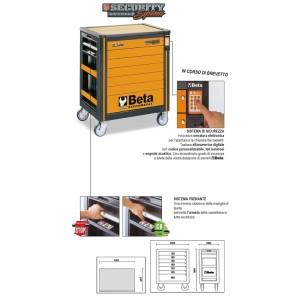 Cassettiera mobile SECURITY System con sette cassetti