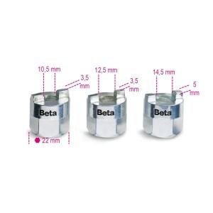 Komplet 3-ech nasadek do nakrętek  mocujących amortyzatory