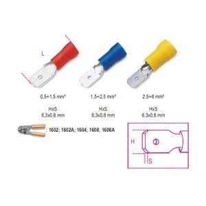 Końcówki kablowe szybkozłączne wsuwki płaskie izolowane