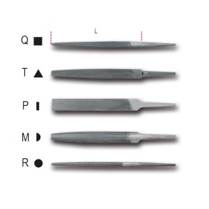 """Pilniki półgładziki 6"""" -150 mm,  bez rękojeści"""