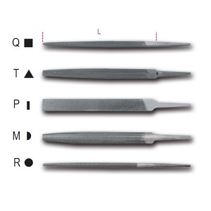 """Pilniki półgładziki 8"""" -200 mm,  bez rękojeści"""