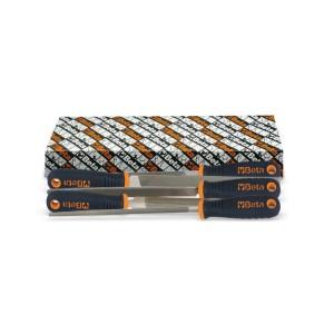 """Zestaw pilników półgładzików, 10"""" - 250 mm, z rękojeścią z tworzywa sztucznego"""