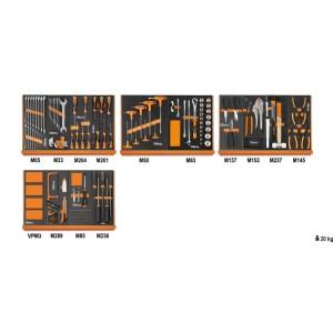 Zestaw 151 narzędzi uniwersalnych w miękkich wkładach profilowanych