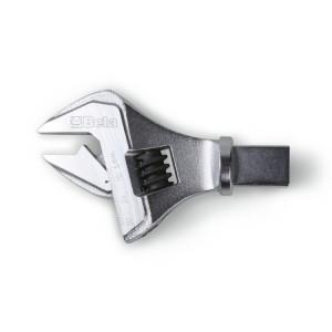 Głowice z kluczem płaskim nastawnym do pokręteł dynamometrycznych z gniazdem prostokątnym