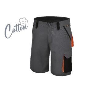 Spodnie robocze krótkie,  z bawełny z domieszką streczu, 220 g/m2 krój Slim fit