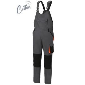 Spodnie robocze na szelkach,  z bawełny z domieszką streczu, 220 g/m2 krój Slim FIT