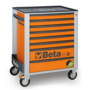Wózki narzędziowe z 8szufladami  z systemem zabezpieczającym przed przewróceniem