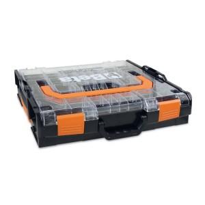 Skrzynka narzędziowa COMBO, wykonana z ABS, z przezroczystą pokrywą