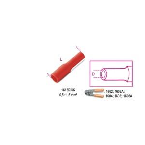 Końcówki kablowe szybkozłączne nasuwki walcowe w pełni izolowane