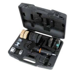 Szlifierka wielofunkcyjna z 16 akcesoriami w pudełku z tworzywa sztucznego