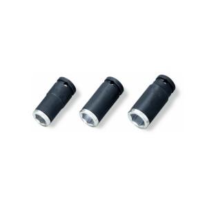 Komplet 3-ech nasadek udarowych  z wkładką aluminiową