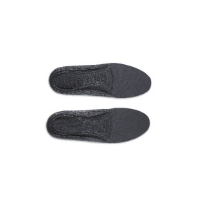 Wkładki do butów z pianki poliuretanowej, anatomicznie wyprofilowane,  z grubszą częścią piętową dla lepszej amortyzacji