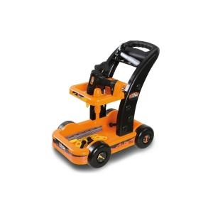 Wózek narzędziowy zabawka, dla dzieci od 3 roku zycia, wyposażony w narzędzia zabawki