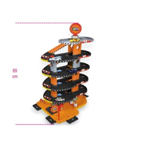 """Zabawka """"Garaż"""", 6-poziomowy, z myjnią samochodową, windą i rampami"""