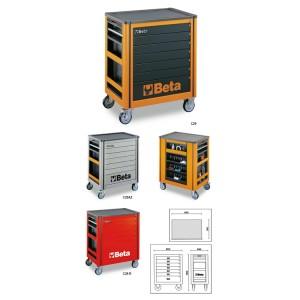 Wózki narzędziowe z 7-ma szufladami