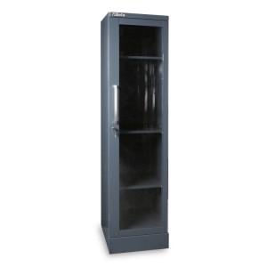 Szafa jednodrzwiowa z blachy z przezroczystymi drzwiami z poliwęglanu, system RSC55