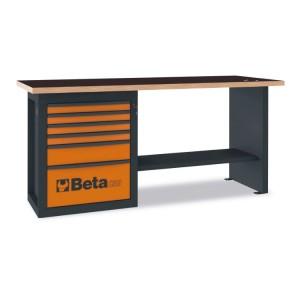 """Stół warsztatowy """"Endurance"""" z 1 szafką narzędziową z sześcioma szufladami"""