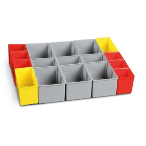 Zestaw 17 pojemników na drobne elementy do walizki C99C-V3
