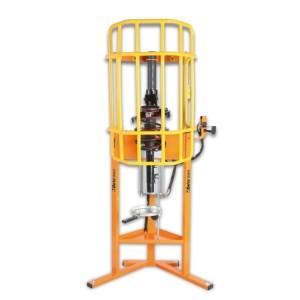 Prensa pneumática para molas de amortecedores de automóveis, carrinhas e veículos comerciais