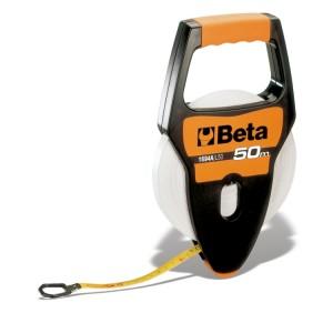 Fita métrica com punho, caixa em ABS anti-choque, fita em fibra de vidro revestida a PVC, classe de precisão III