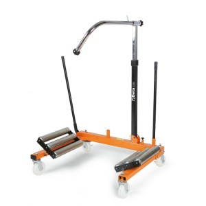 Macaco para elevação e posicionamento  de rodas de tratores e escavadoras