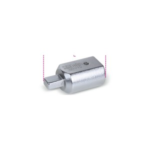 Adaptador com quadra retangular fêmea (14x18 mm) e macho (9x12 mm)