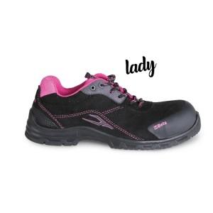 Sapato de senhora em camurça, impermeável, com proteção anti-abrasão na biqueira