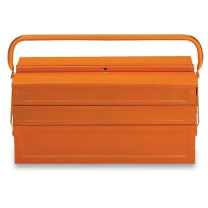 Caixa extensível com cinco divisões  em chapa metálica