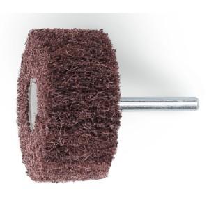 Rodas em tecido não tecido abrasivo com haste tecido em fibras sintéticas de coríndon