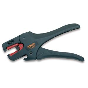 Alicates para descarnar fio,  com ajuste e dispositivo de corte