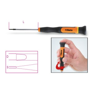 Micro-chaves para parafusos  de perfil de fenda
