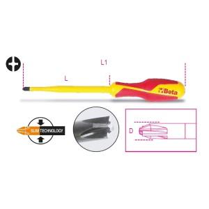 Chave combinada para parafusos de perfil com fenda + cabeça em cruz PH +