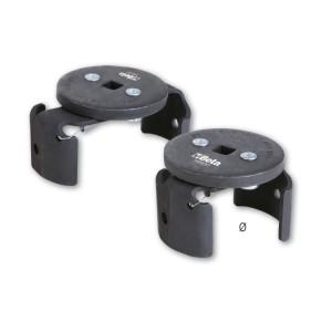 Chaves de filtro com bloqueio automático, para aperto à esquerda