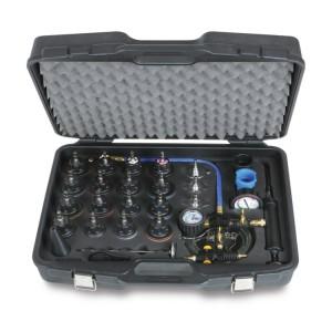 Kit ferramentas para detecção de fugas e enchimento rápido de sistemas de refrigeração