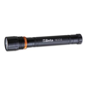Lanterna LED de elevada luminosidade, em alumínio anodizado robusto, até 500 lumens