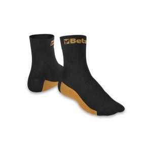 Meias maxi sneaker com inserções de textura respirável e reforços de nylon / algodão nas áreas dos dedos e calcanhar Solas feitas de nylon tecido com fibra de bambu resistente ao desgaste, antimicótico e respirável