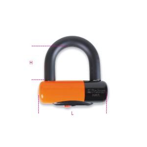 Cadeados para motorizadas, em aço endurecido, à prova de impactos, PVC, embalagem blister