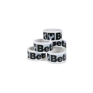 Pack de 36 rolos de fitas adesivas com logótipo Beta, brancas
