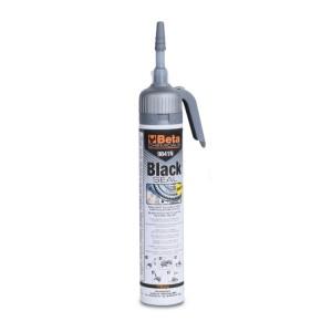 Selante silicónico de reticulação acética cor preta, resistente a temperaturas elevadas, com prático dispensador pressurizado