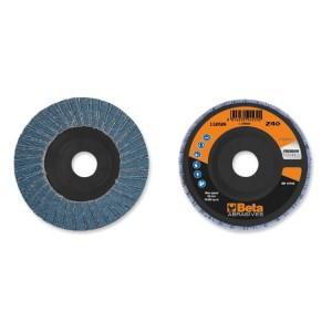 шлифовальные диски, циркониевый абразив, пластмассовая диск-подошва, двустороннее исполнение