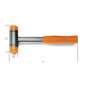 киянки с защитой от отдачи, со сменной ударной поверхностью,  из пластика, со стальной рукояткой