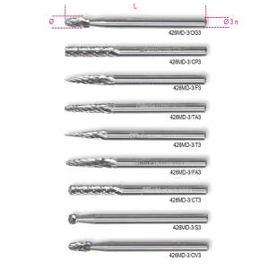 небольшие ротационные напильники из твердого металла (9 шт.)