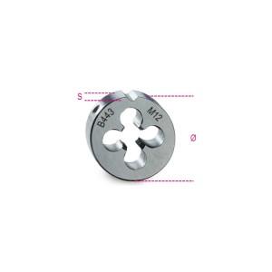 плашка круглая,  метрическая мелкая резьба, HSS