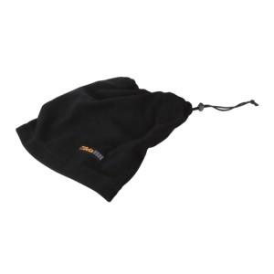 шарф из микрофлиса, с застёжкой, чёрный, может использоваться как шапка