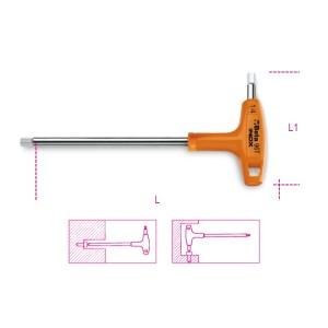 Ключ Г-образный шестигранный с рукояткой изготовлен из нержавеющей стали